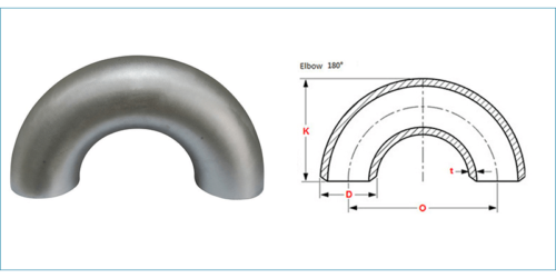Stainless Steel 180 Degree Elbow