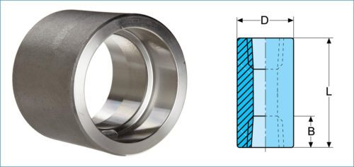 Stainless Steel Socketweld Full Coupling
