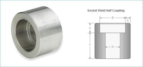 Stainless Steel Socketweld Half Coupling