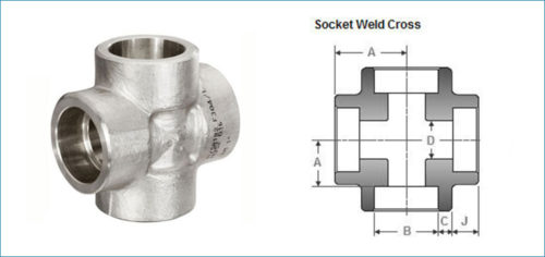 Stainless Steel Socketweld Equal Cross