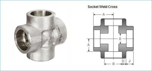 Stainless Steel Socketweld Equal Cross