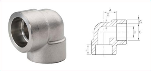 Stainless Steel 90 Degree Socketweld Elbow