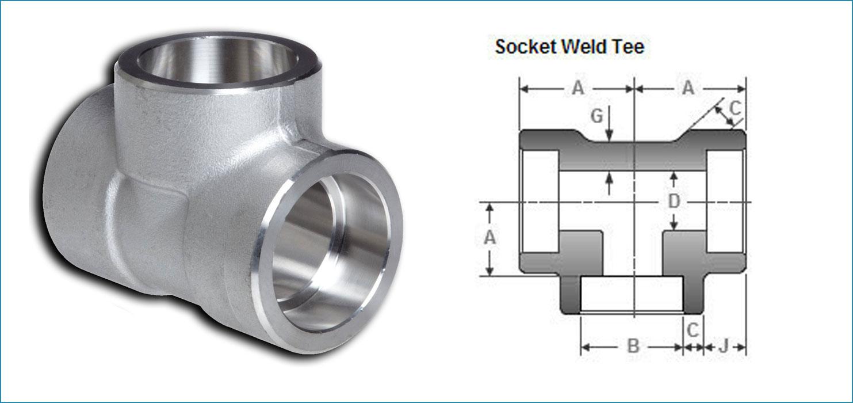 Stainless Steel Socketweld Tee