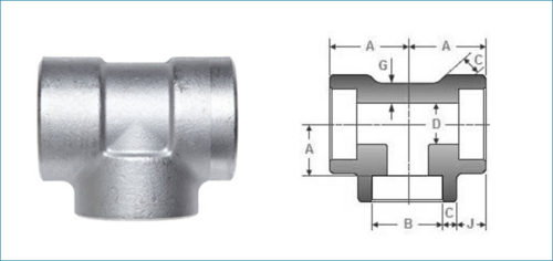 Stainless Steel Socketweld Unequal Tee Manufacturer